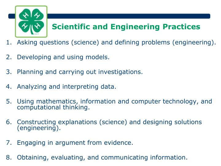 Scientific and Engineering Practices