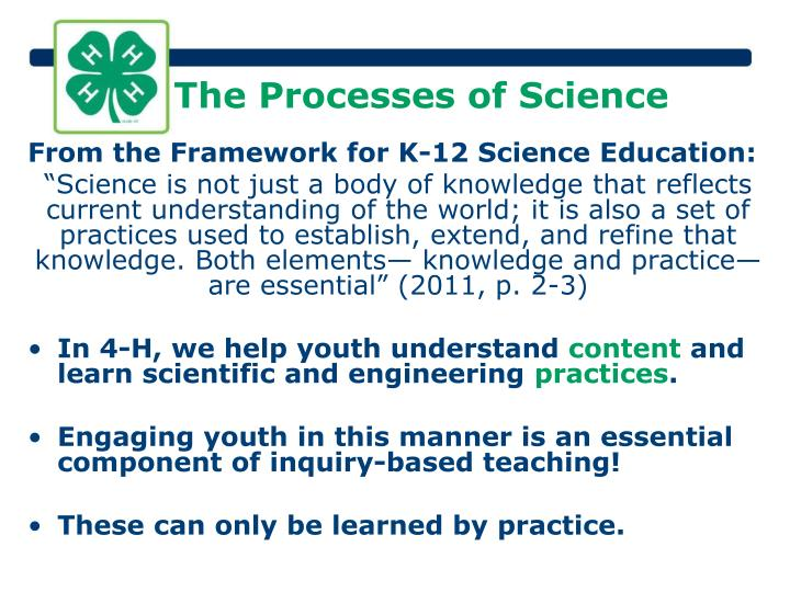 The Processes of Science