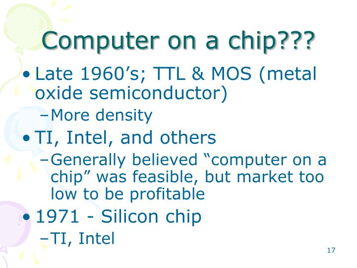 Computer on a chip???