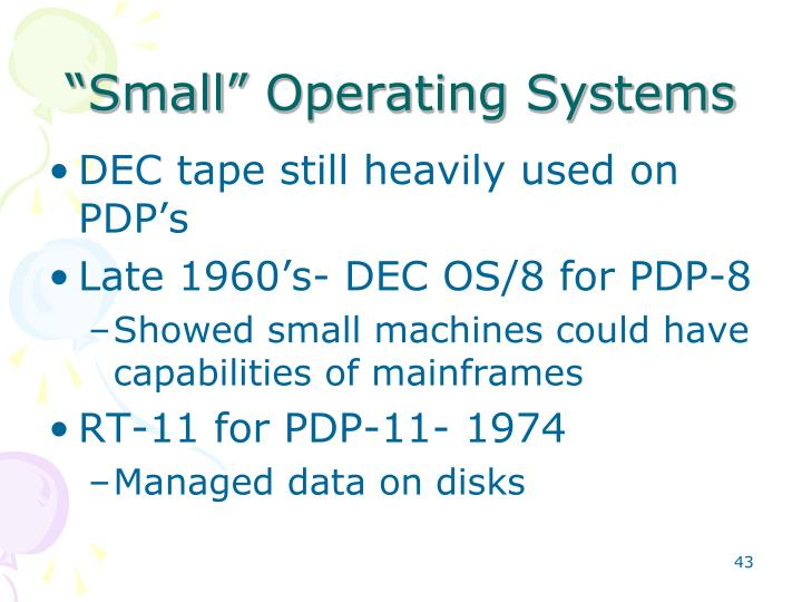 """Small"" Operating Systems"