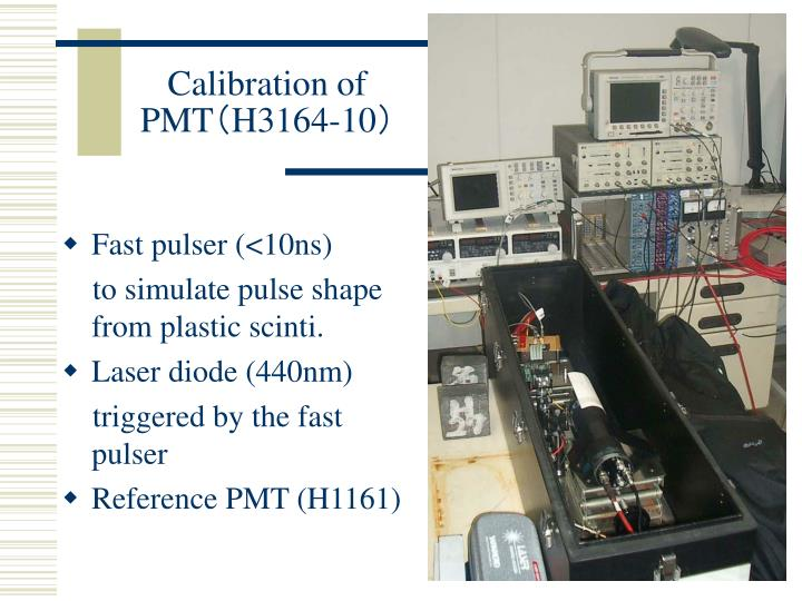 Calibration of PMT