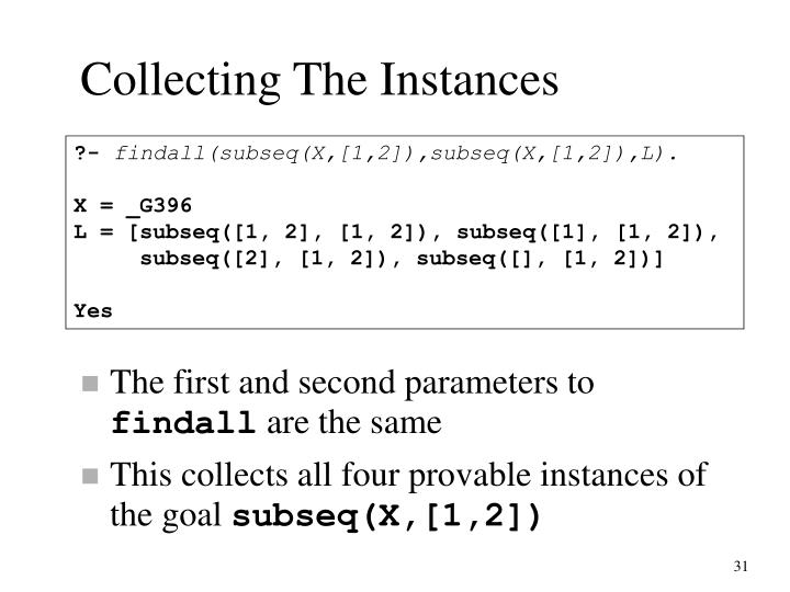 Collecting The Instances