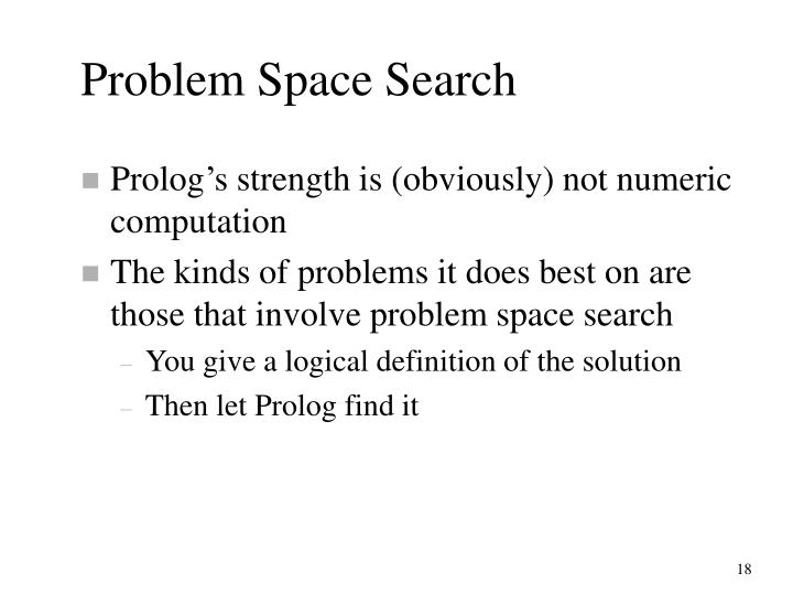 Problem Space Search