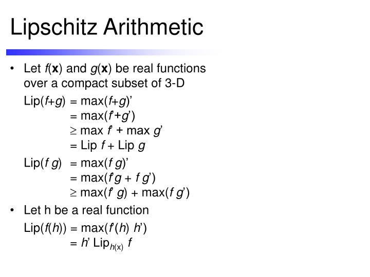 Lipschitz Arithmetic