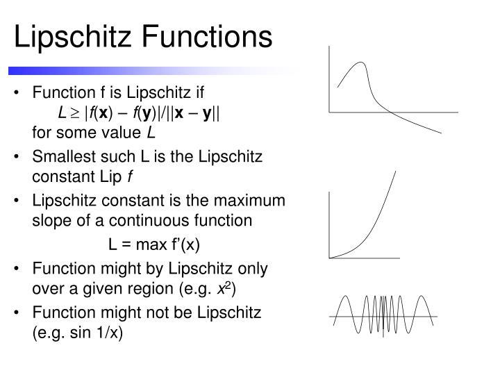 Lipschitz Functions