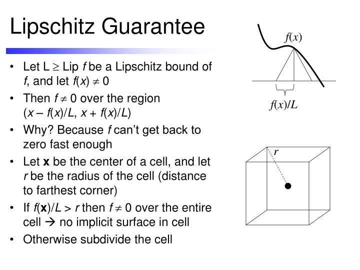 Lipschitz Guarantee