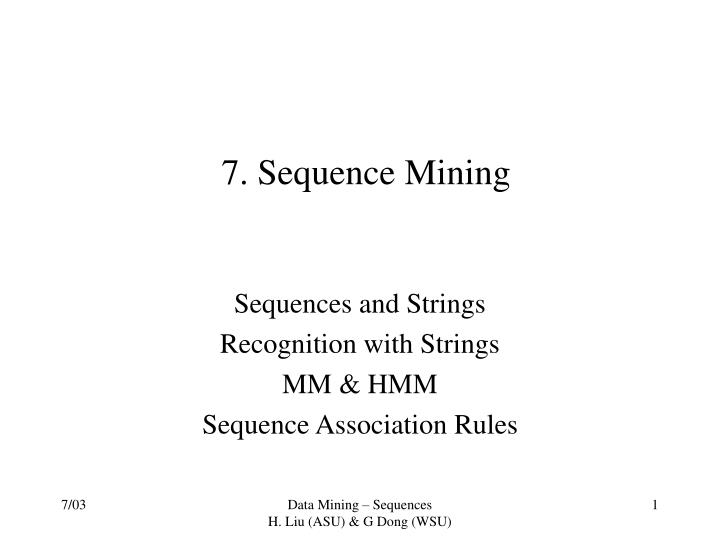 7 sequence mining