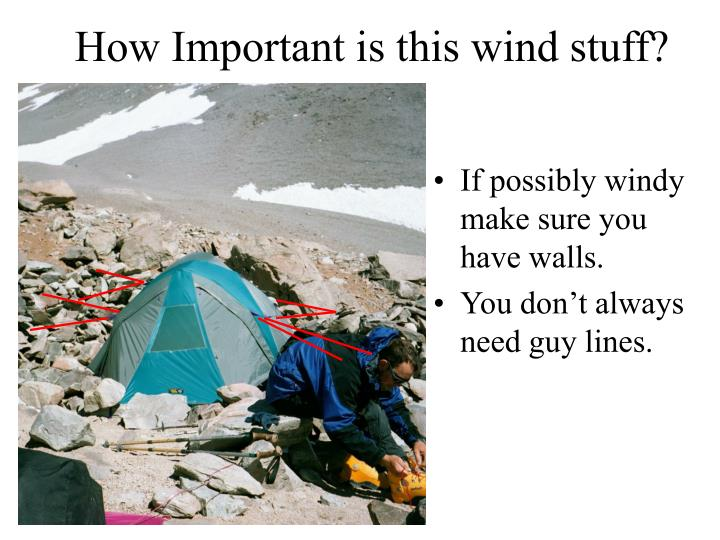 How Important is this wind stuff?