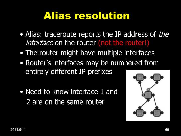 Alias resolution