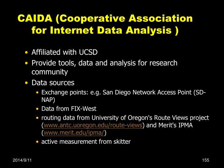 CAIDA (Cooperative Association for Internet Data Analysis )
