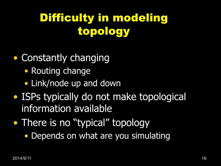 Difficulty in modeling topology