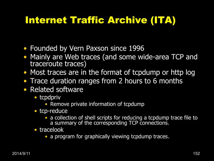 Internet Traffic Archive (ITA)