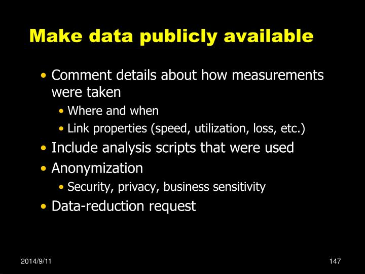 Make data publicly available