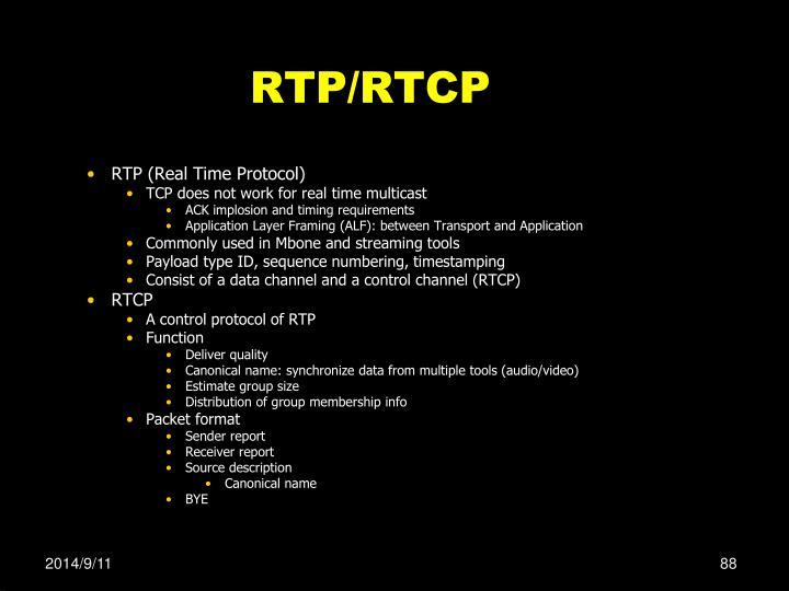 RTP/RTCP