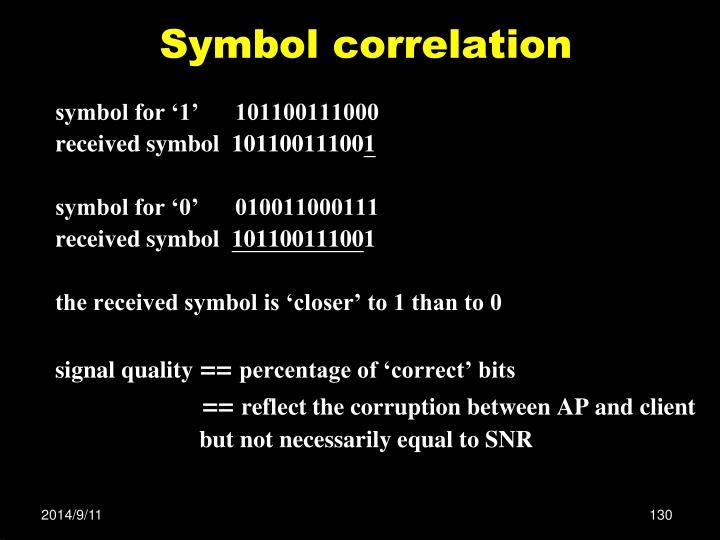 Symbol correlation