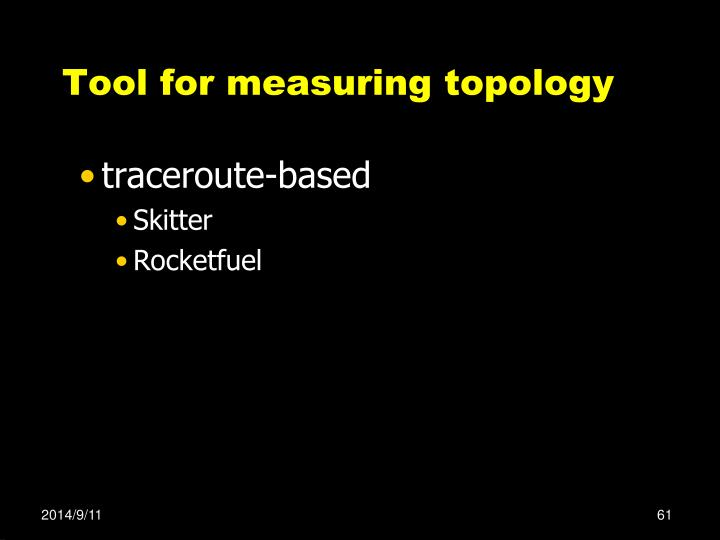 Tool for measuring topology