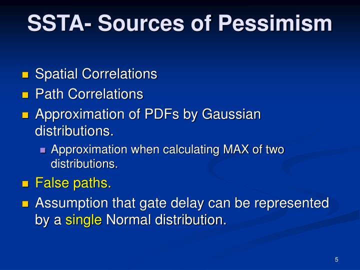 SSTA- Sources of Pessimism