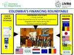colombia s financing roundtable