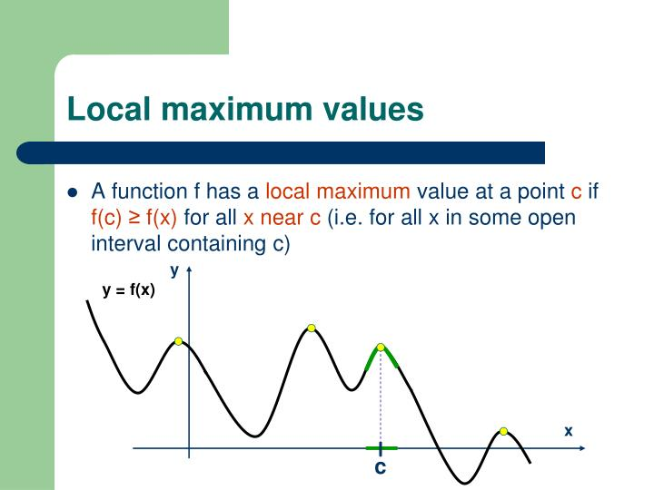 Local maximum values