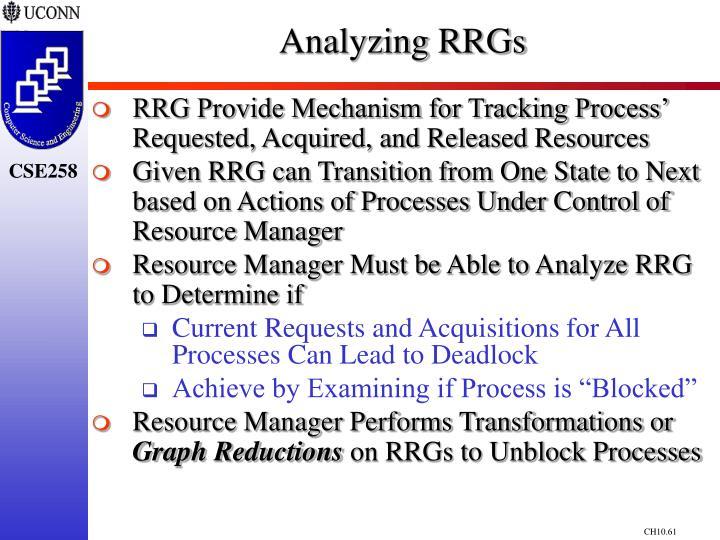 Analyzing RRGs