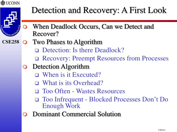 Detection and Recovery: A First Look