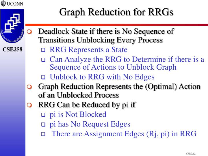 Graph Reduction for RRGs