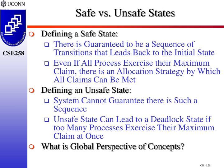 Safe vs. Unsafe States