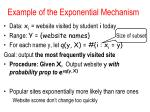 example of the exponential mechanism