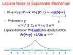 laplace noise as exponential mechanism