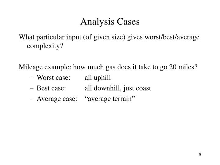 Analysis Cases