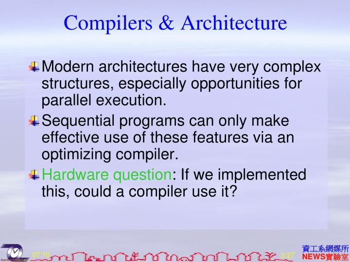 Compilers & Architecture