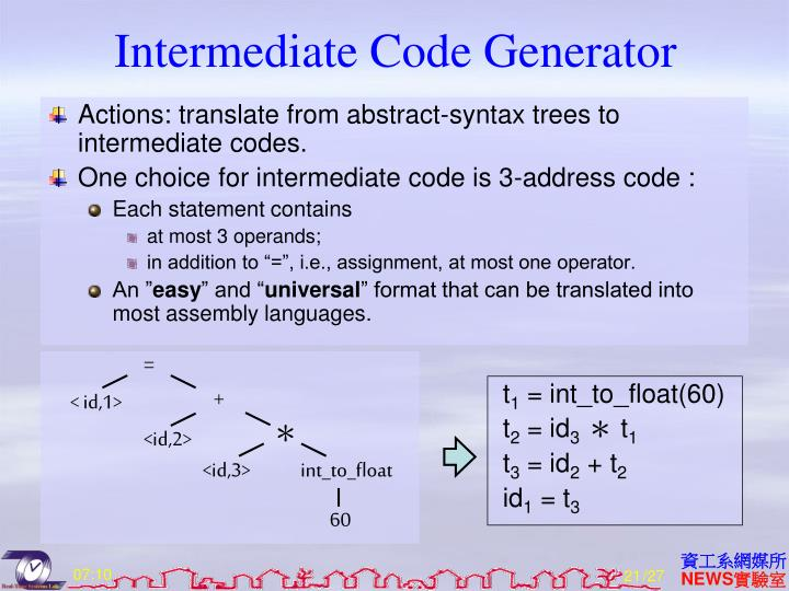 Intermediate Code Generator
