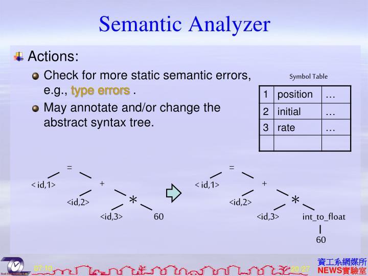 Semantic Analyzer