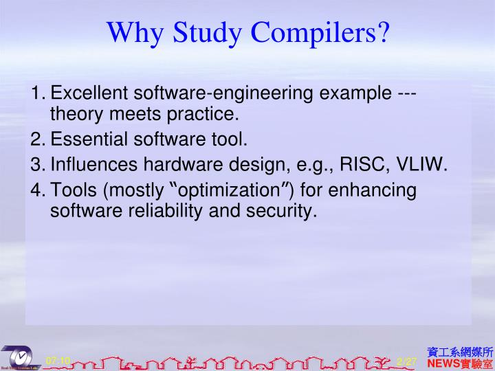 Why study compilers