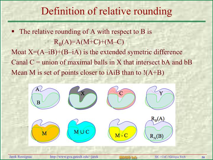 Definition of relative rounding
