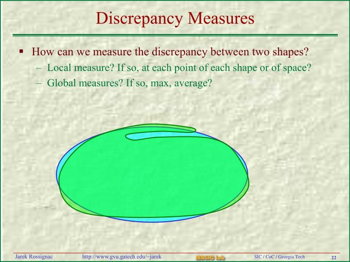 Discrepancy Measures
