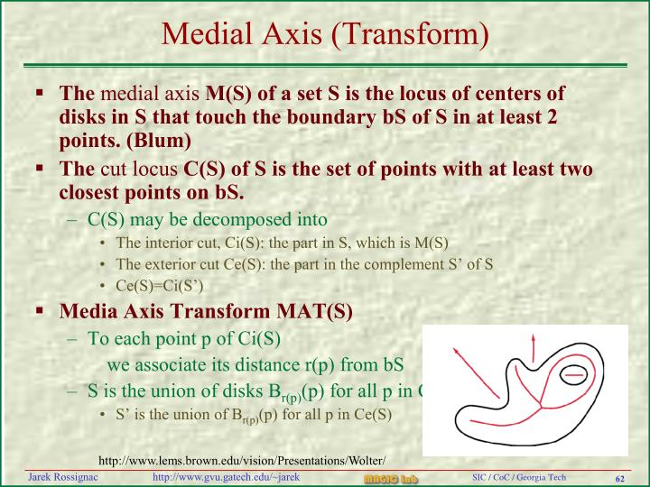 Medial Axis (Transform)