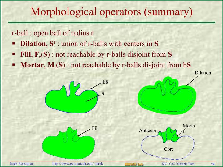 r-ball : open ball of radius r