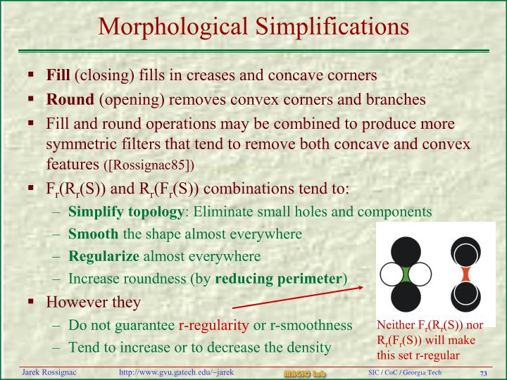 Morphological Simplifications