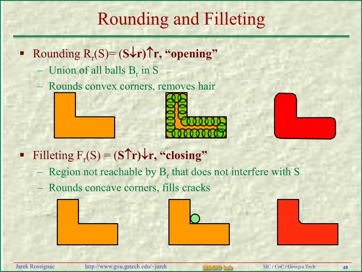 Rounding and Filleting