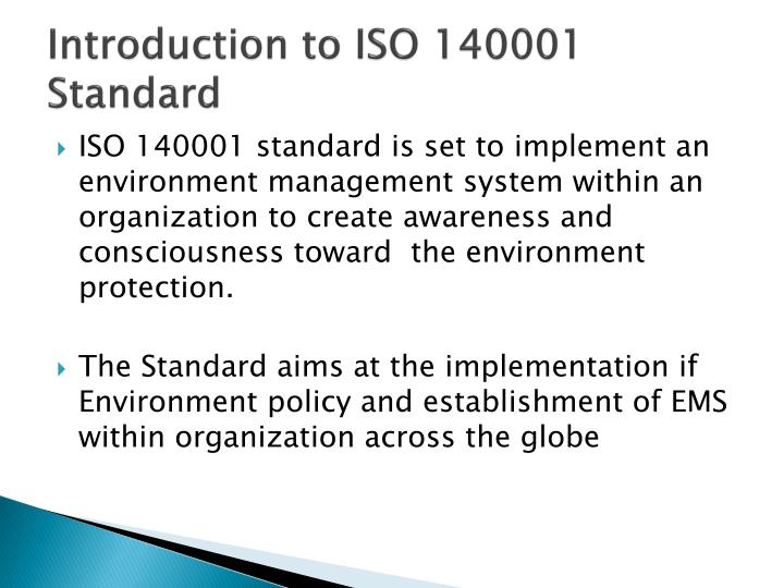 Introduction to iso 140001 standard