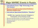 major marbc events in russia