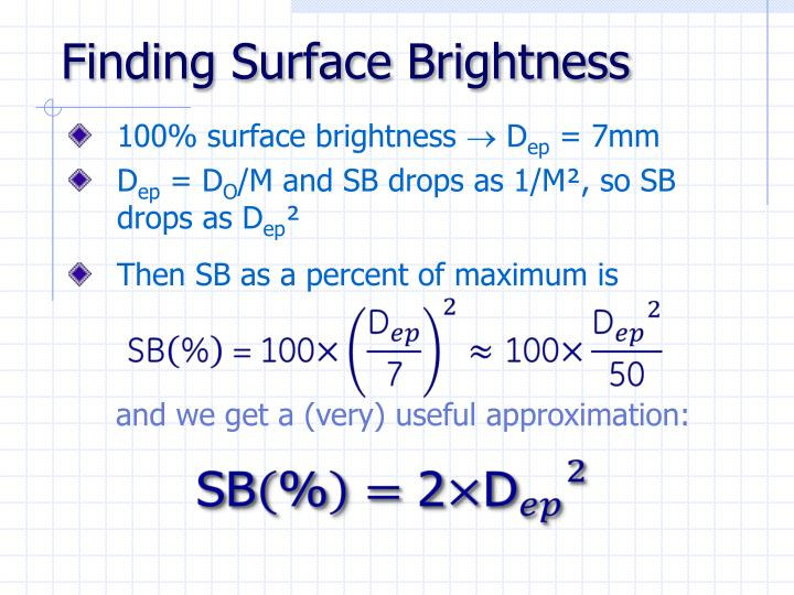 Finding Surface Brightness
