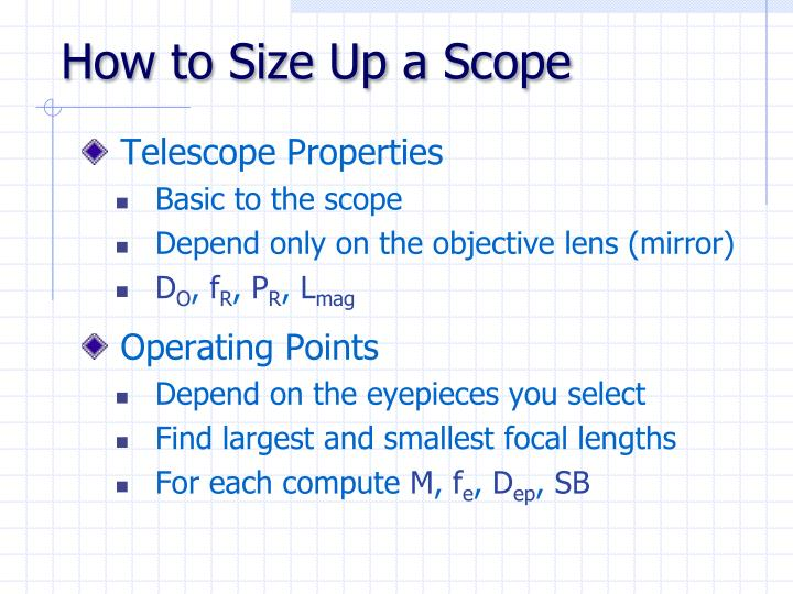 How to Size Up a Scope