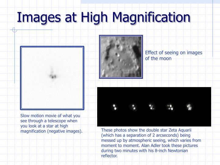 Images at High Magnification