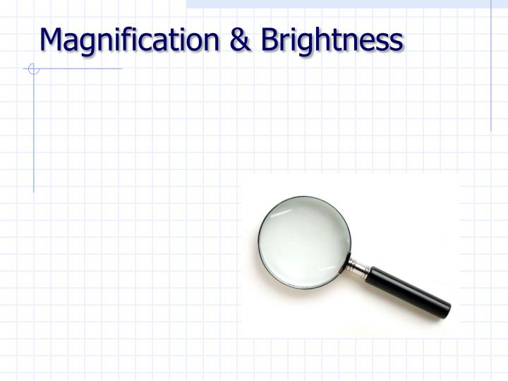 Magnification & Brightness
