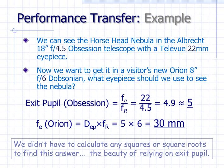 Performance Transfer: