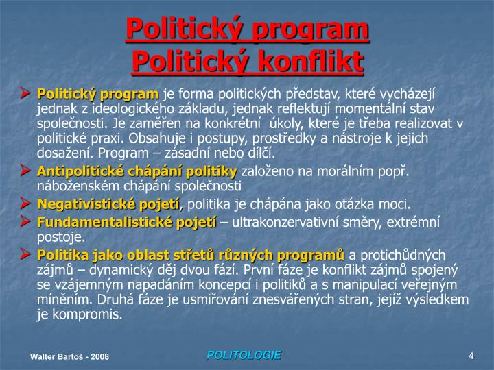 Politický program