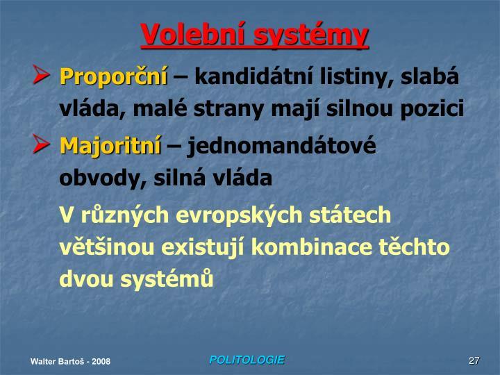 Volební systémy