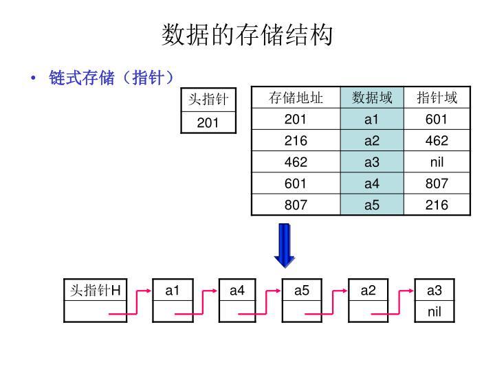 数据的存储结构